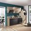 Küchenblock Pn100/pn270 - Graphitfarben/Akaziefarben, MODERN, Holzwerkstoff (280cm) - Pino