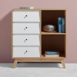 Komoda Enny - barvy borovice/bílá, Moderní, dřevo (80/88/35cm) - MÖMAX modern living