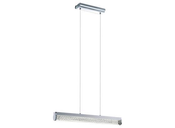LED-hängeleuchte Trevelo - Chromfarben/Weiß, MODERN, Glas/Metall (76,5/7/110cm)
