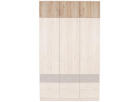 Aufsatzschrank Aalen Extra B:136cm San Remo Eiche Dekor - Grau, KONVENTIONELL, Holzwerkstoff (136/39/54cm)