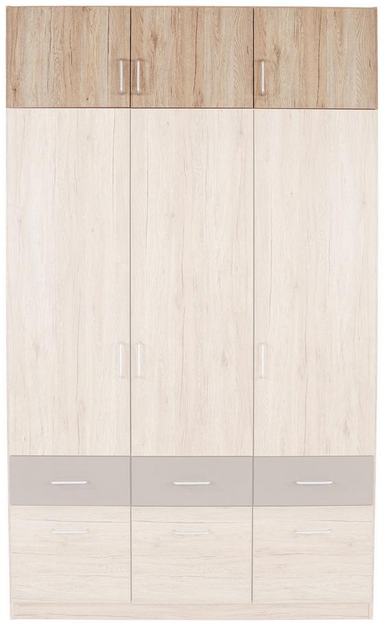 Nadstavec Na Skriňu Aalen-extra - sivá, Konvenčný, drevený materiál (136/39/54cm)