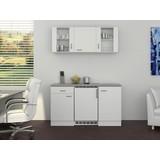 Küchenblock Wito 150cm Weiß - Weiß/Grau, MODERN, Holzwerkstoff (150/60cm)