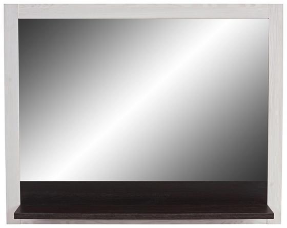 Zrcadlo Provence - bílá/barvy wenge, Moderní, kompozitní dřevo/sklo (115/93/15cm) - James Wood