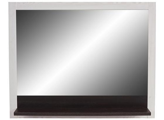 Zrkadlo Provence - biela/farby wenge, Moderný, kompozitné drevo/sklo (115/93/15cm) - James Wood
