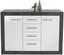 Sideboard Iguan - Dunkelgrau/Schwarz, MODERN, Holzwerkstoff (120,2/85,1/34,8cm)