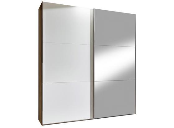Skriňa S Posuvnými Dvermi Level 36 A - farby dubu/biela, Konvenčný, kompozitné drevo (200/236/65cm)