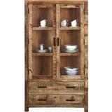 Vitrína Industry - prírodné farby, drevo (100/180/42cm) - James Wood