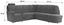 Wohnlandschaft in L-Form Queenline A 266x257 cm - Weinrot/Schwarz, KONVENTIONELL, Holz/Holzwerkstoff (266/257cm) - James Wood