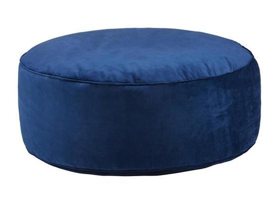 Nízký Kulatý Taburet Tutti - modrá, Lifestyle, textil (80/30cm) - Modern Living
