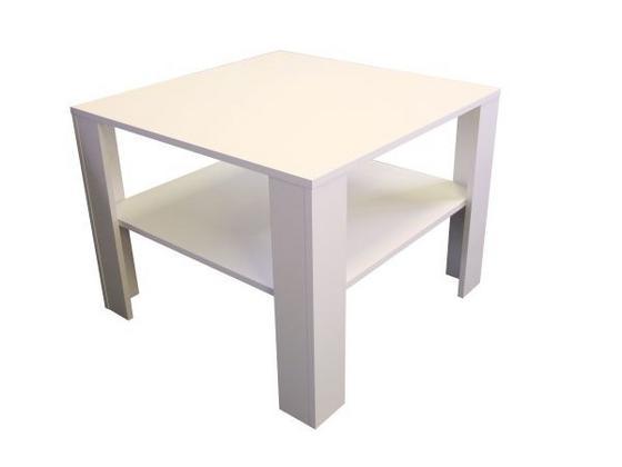 Konferenční Stolek Midi - bílá, Moderní, dřevěný materiál (73/55/73cm)