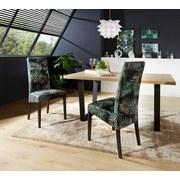 Stuhl Roko - Wengefarben/Multicolor, KONVENTIONELL, Holz/Textil (46/101/62cm) - Ombra