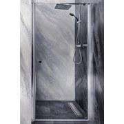 Glas Schwingtür Sanoflex Brava 95-97cm - Transparent, KONVENTIONELL, Glas (95-97/195cm)