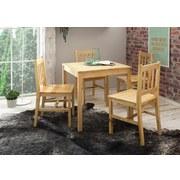 Tischgruppe 5-teilig - Kieferfarben, Basics, Holz (70/70/73cm) - Carryhome
