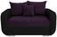 Zweisitzer-Sofa Faro B: 150cm - Chromfarben/Violett, MODERN, Holz/Textil (150/90/92cm) - Ombra