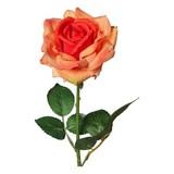 Rose H: 68 cm - Orange/Grün, Basics, Kunststoff (68cm)
