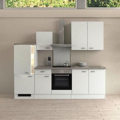 Küchenzeile in Weiß ohne E-Geräte