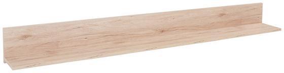 Police Nástěnná Malta - barvy dubu, Moderní, dřevěný materiál (180/18/20cm)