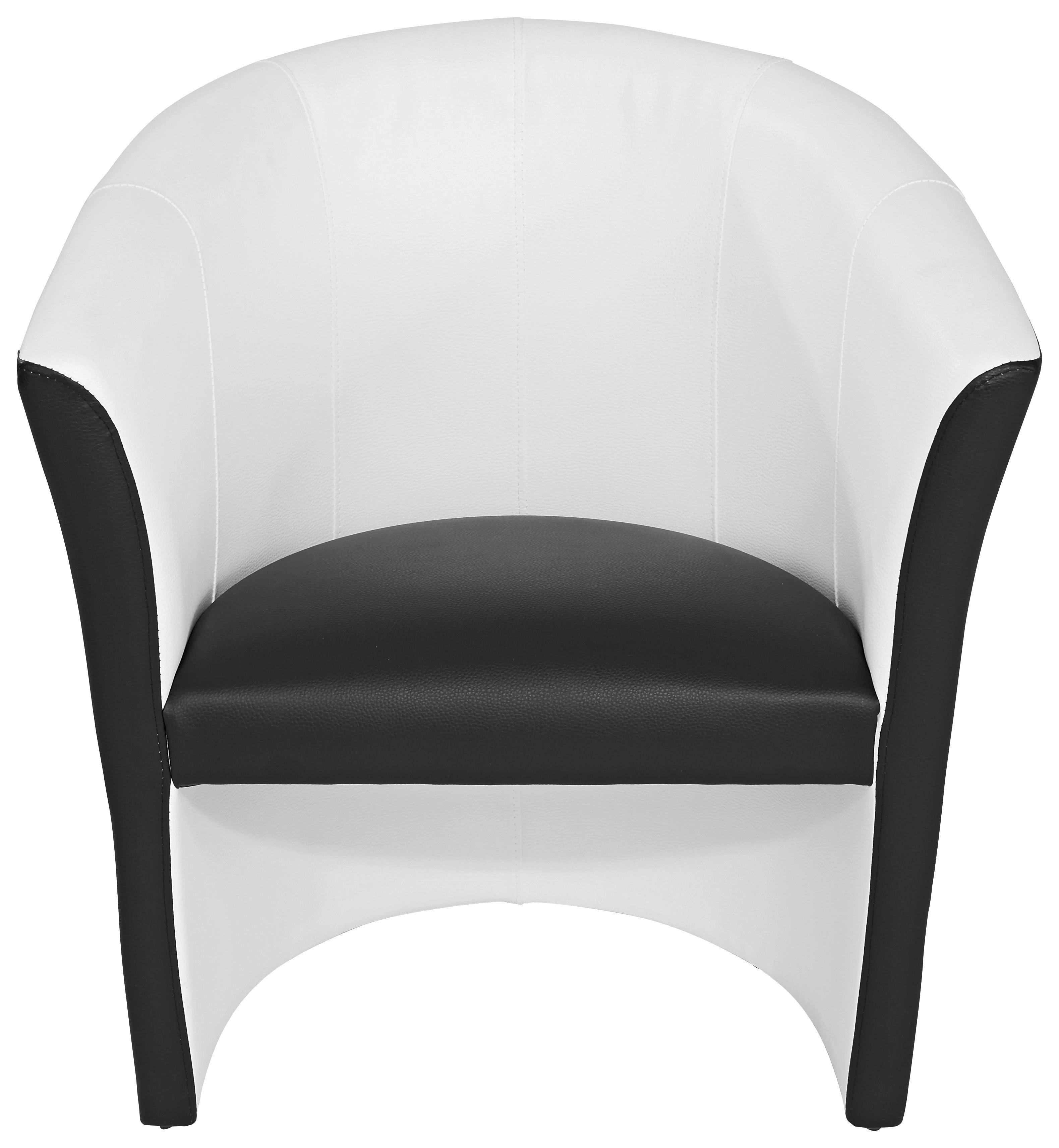 Fotel Rainbow - fekete/fehér, modern (69/76/59cm) - OMBRA