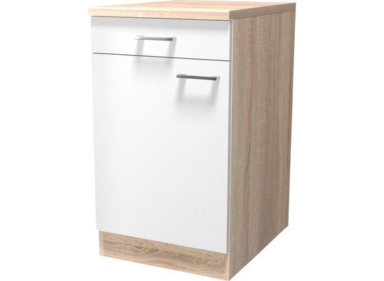 Spodná Kuchynská Skrinka Samoa  Us 50 - farby dubu/biela, Konvenčný, kompozitné drevo (50/85/57cm)