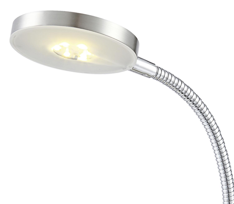 Led Schreibtischlampe Desiderio Nickel mit Flexarm - Detailansicht - Lampenkopf