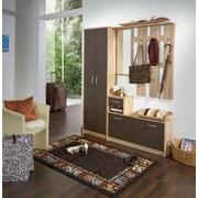 Garderobe Iza - Eichefarben/Braun, KONVENTIONELL, Glas/Holzwerkstoff (100/190/26cm)