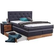Boxspringbett Mara 180x200 Grau/blau - Baltimorefarben, KONVENTIONELL, Holz/Textil (180/200cm)