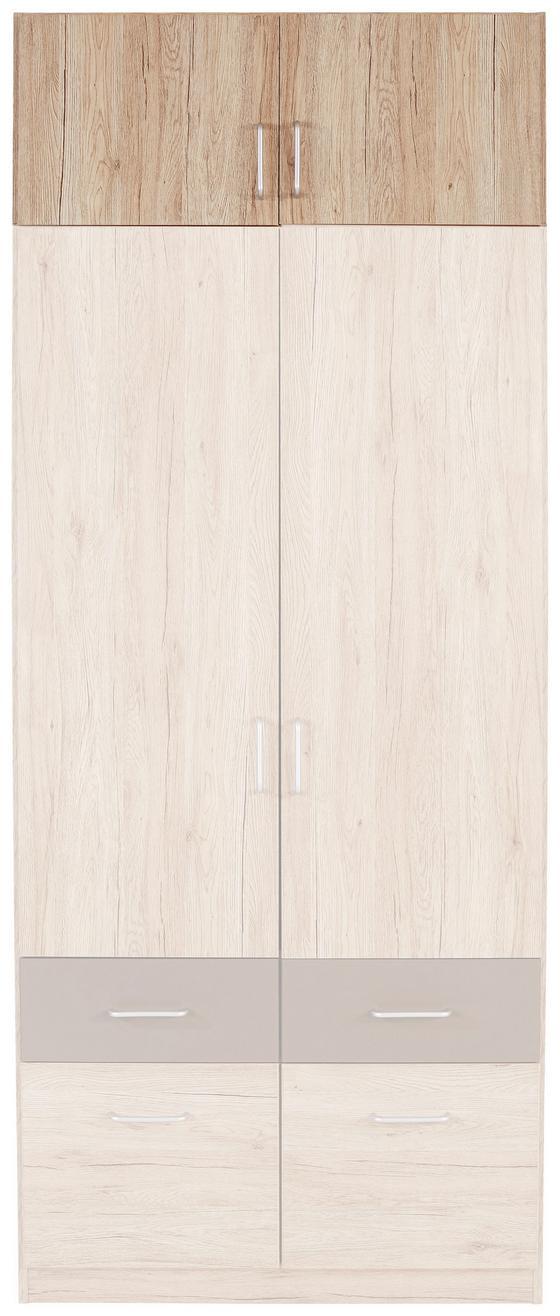 Aufsatzschrank Aalen Extra, 91cm - KONVENTIONELL, Holzwerkstoff (91/39/54cm)