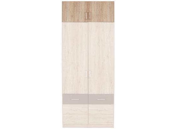 Aufsatzschrank Aalen Extra B:91cm San Remo Eiche Hell - KONVENTIONELL, Holzwerkstoff (91/39/54cm)