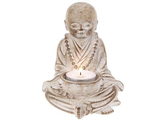 Buddha Tiberius - Weiß, ROMANTIK / LANDHAUS, Kunststoff (10/14,5/10cm) - James Wood