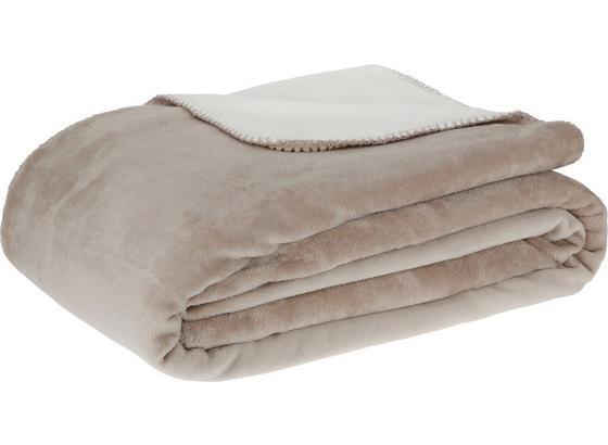 Měkká Deka Xxl Like Oboustranná - bílá/šedohnědá, textil (220/240cm) - Mömax modern living