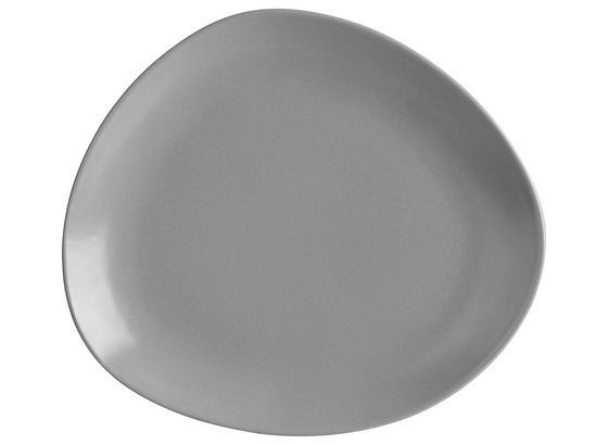 Plytký Tanier Nele - sivá, Moderný, keramika (26,3/23/2,5cm) - Premium Living