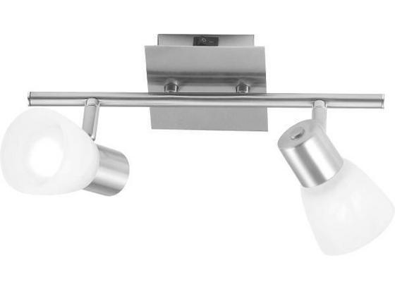 Spotbalken Katrin - Weiß, KONVENTIONELL, Glas/Metall (30/15cm) - Ombra