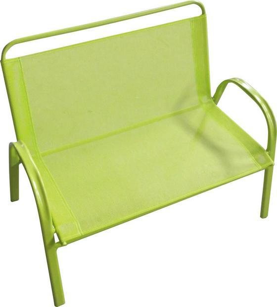 Kinder-gartenbank Lilly - Grün, KONVENTIONELL, Kunststoff/Textil (72/56/45cm) - Ombra