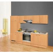 Küchenblock Nano B: 270 cm Buche Dekor - Buchefarben, MODERN, Holzwerkstoff (270cm)