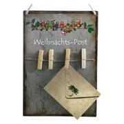 Memoboard Weihnachtspost - Grau, KONVENTIONELL, Metall (23/33,5cm)