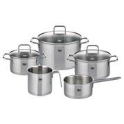 Kochtopfset Topfset Citrin 8 teilig - Silberfarben, Basics, Glas/Metall - ELO