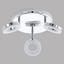 LED-Deckenleuchte oderzo 1 - Chromfarben/Weiß, MODERN, Kunststoff/Metall (21cm)