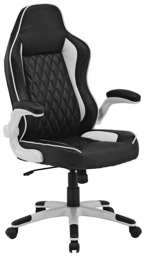 Kancelářské Křeslo Klaus - bílá/černá, Moderní, kov/textil (71/119-127/66cm)