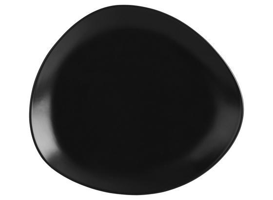 Talíř Dezertní Nele - černá, Moderní, keramika (21/19/2,3cm) - Premium Living
