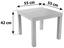 Konferenční Stolek Nora - šedá, Moderní, kompozitní dřevo/umělá hmota (55/42/55cm)
