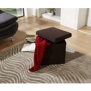 Sitzbox Classic Schwarz - Schwarz, MODERN, Holzwerkstoff/Textil (38/38/38cm)