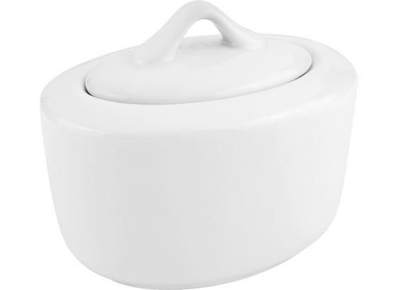 Dóza Na Cukor Adria - biela, Konvenčný, keramika (14/9,5cm) - Mömax modern living