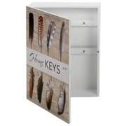 Schlüsselkasten Feather - Weiß, MODERN, Holzwerkstoff (20/28/5,5cm)