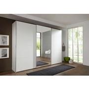 Schwebetürenschrank mit Spiegel 270cm Ernie, Alpinweiß Dekor - Weiß, MODERN, Glas/Holzwerkstoff (270/210/65cm)