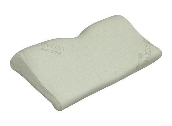 Šíjový Opěrný Polštář Madrid - bílá, Basics, textil (53/32/6 cm)