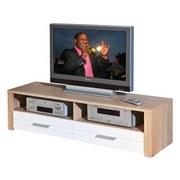 TV-Element Absoluto B: 150cm Sonoma Eiche - Weiß/Sonoma Eiche, Basics, Holzwerkstoff (150/37/40cm) - Livetastic