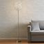 Led Stojací Lampa Clea - barvy chromu/barvy hliníku, Moderní, kov (40/160cm) - Modern Living