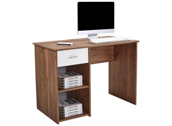 Psací Stůl Kubek 2 *cenový Trhák* - tmavě hnědá, Moderní, kompozitní dřevo (110/75/50cm)