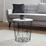 Odkládací Stolek Josie - bílá/černá, Moderní, kov/dřevo (40/41cm) - Modern Living