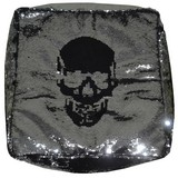 Sedací Vak Lebkoun - čierna/strieborná, Trend, textil (45/45/45cm)